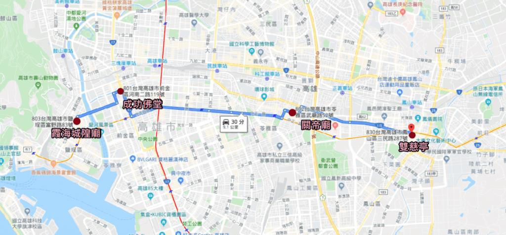 高雄月老廟地圖指引